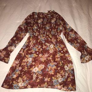 Dresses - Floral bell sleeve dress